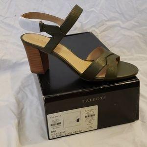 NIB Talbots Women's Sandals Bay Leaf Green 8M